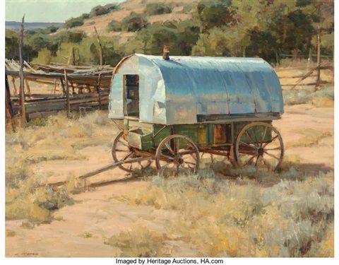 Clyde Aspevig American Born 1951 Sheep Wagon Clyde Aspevig Clyde Wagon