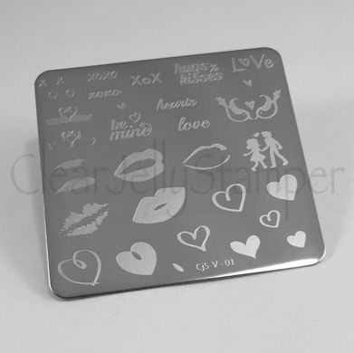 Clear Jelly Stamper- Luscious Lips & Love (V-01)
