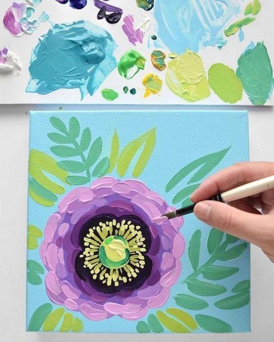 Julie Marriott Auf Instagram Heute Wird Auf Meinem Schreibtisch Eine Lila Mohnblume Zum Leben Erweckt Wir Haben In 2020 Floral Painting Flower Painting Flower Art