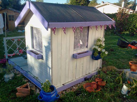 Diy cabane enfant bricolage ext rieur pinterest - Cabane exterieur enfant ...