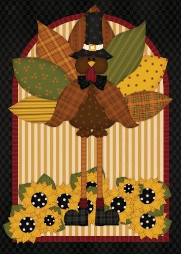 Quilted Turkey House Flag By Toland Home Garden