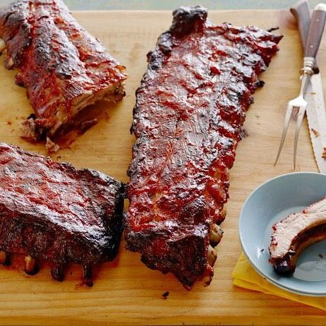 Recipe of the Day: Barbecued Pork Ribs With a salty-sweet marinade, homemade barbecue sauce and a bake-then-broil technique, you get tender, smoky barbecue, even without the grill. [recipe link in profile]
