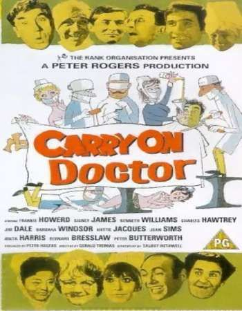 Poster Of Carry on Doctor 1968 Dual Audio 720p Web-DL [Hindi - English] ESubs Free Download Watch Online Worldfree4u