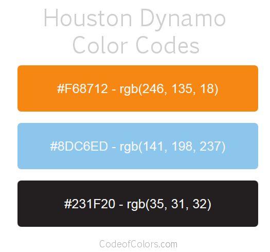 houston dynamo team color codes