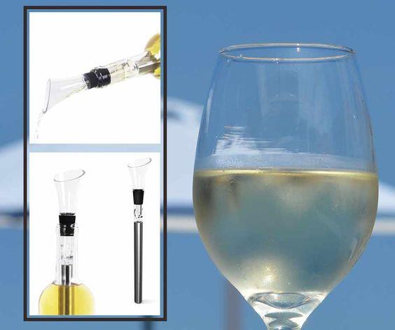 Adiós a las cubiteras, este pequeño utensilio permite mantener tus bebidas frescas. https://www.regalos-up.com/tienda/enfriador-de-vino/