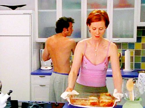 "Steve Brady and Miranda Hobbes.  3.07:  ""Drama Queens"""