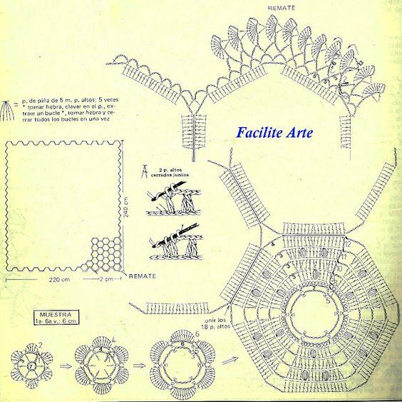 Facilite Sua Arte: Colcha 4 - Módulos Hexagonal com flor