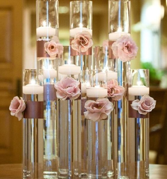 glass cylinder with crystals - Google Search