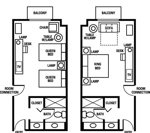 Room layouts layout and hotels on pinterest for Hotel bedroom layout design
