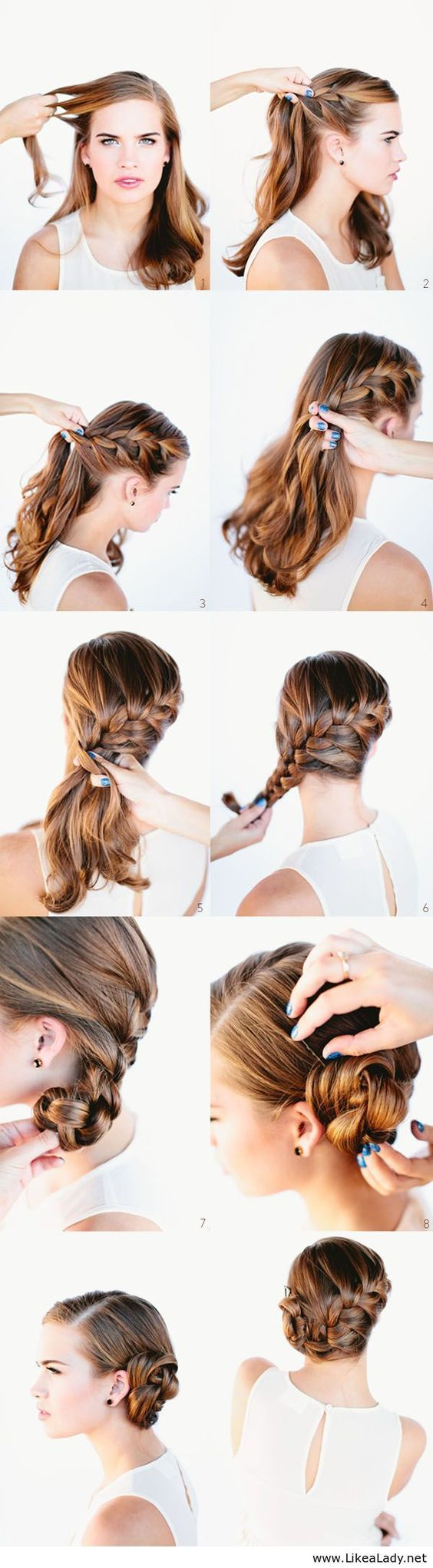 Coiffures Chignons And Tops On Pinterest