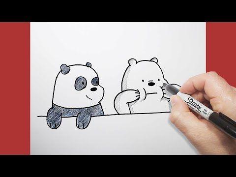 الدببة الثلاثة كيف ترسم قطبي وبندابالخطوات Drawing We Bare Bears Youtube My Drawings Art Drawings How To Draw Hands