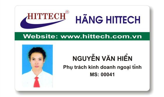 mẫu thẻ nhựa ngang hãng Hittech