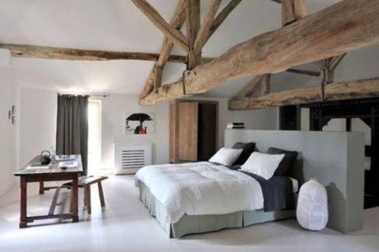 Chambre ŕ Coucher En Bois Blanc En 2020 Chambre A Coucher Bois