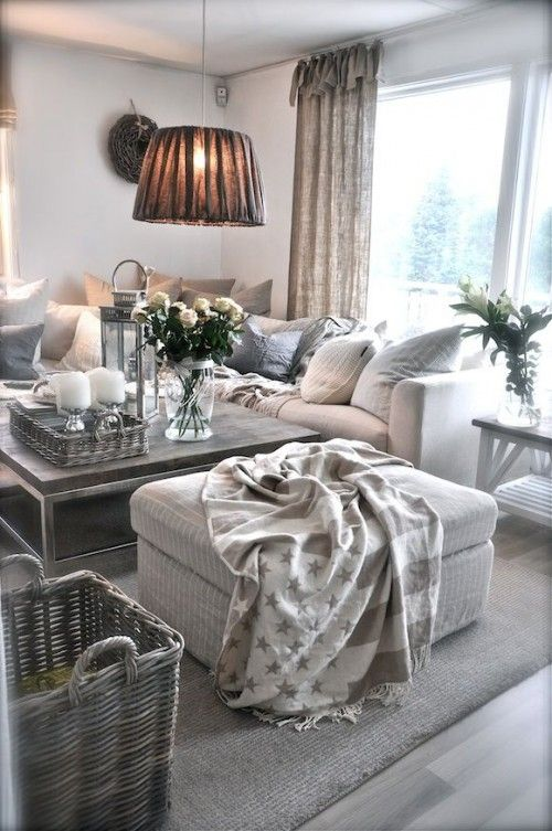 Schönes Wohnzimmer im Landhausstil ganz nach meinem Geschmack ...