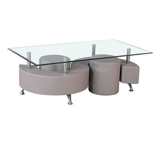 Table Basse Et 2 Poufs Alpha 2 Taupe Table Basse But En 2020 Pouf Rond Mobilier De Cuisine Table Basse