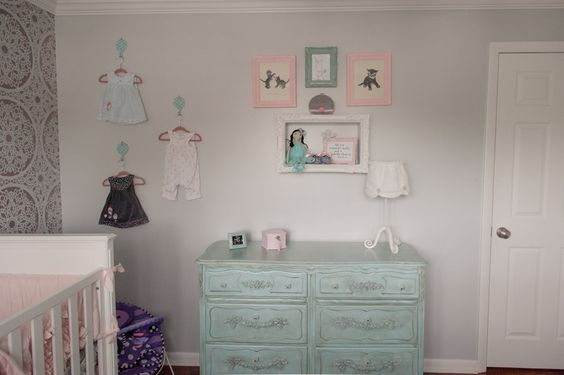 Shabby Chic Dresser + Nursery Decor