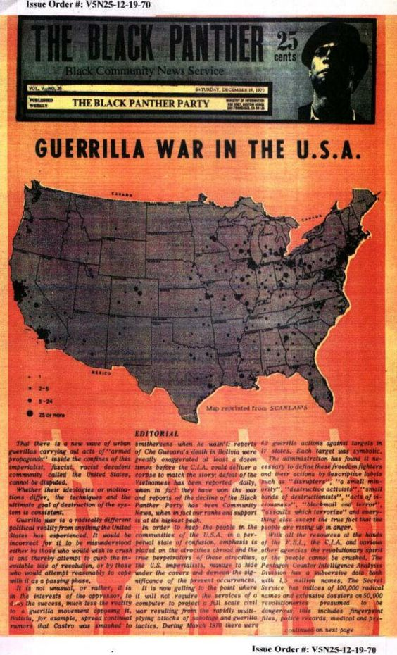 The Black Panther (December 19, 1970)  Guerrilla War in the U.S.A.