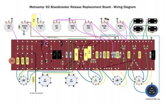 Metro BluesBraker wiring Amplifiers Pinterest