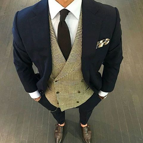 Great waist coat combination with this navy suit my for Shirt color navy suit