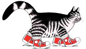 """In 1975, B. """"Hap"""" Kliban published Cat, the first book to feature his famous tabby cat character, what he called ''one hell of a nice animal, frequently mistaken for a meat loaf.'' A chord was struck that went beyond mere cat lovers. The image of a red sneaker-wearing cat was perfectly in step with the distinctly American love of Pop."""