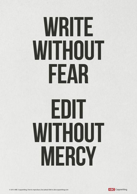 Editor writing