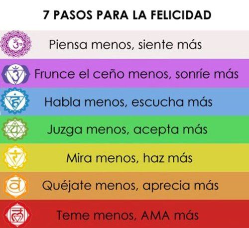 7 Pasos para la felicidad: For, Be Happy, Positive Messages, Of The, Happiness, Steps, Sentences To