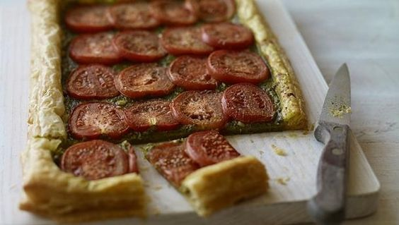 BBC Food - Recipes - Quick tomato and basil tart