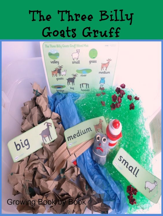 sensory activity for the The Three Billy Goats Gruff from growingbookbybook.com