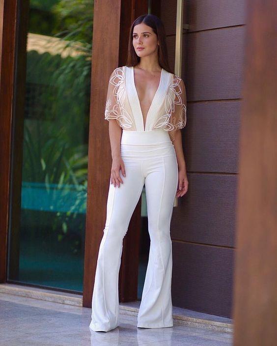 Outfits Con Pantalones Campana Estilos De Vestir Mujer Outfits Pantalones Palazzo Blanco