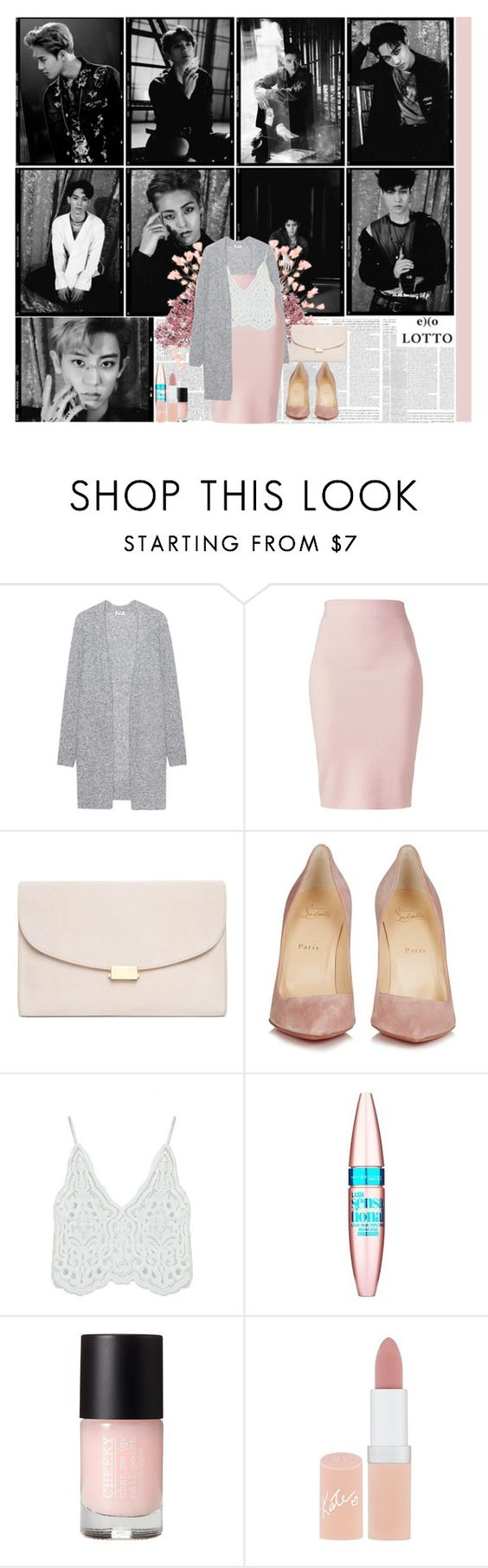 """""""~ lipstick, chateau, wine color ~"""" by small-lullabies ❤ liked on Polyvore featuring Acne Studios, Winser London, Mansur Gavriel, Christian Louboutin, Chicnova Fashion, Maybelline and Rimmel"""