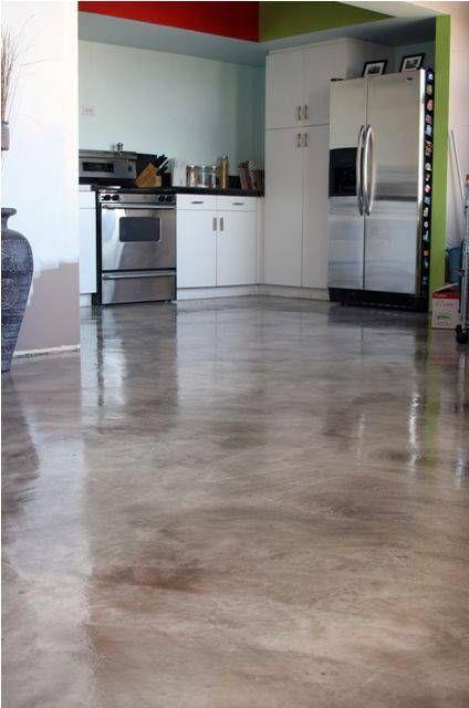 Resina Epóxi 63 Ambientes Impressionantes Concreto Manchado Piso Residencial Cozinha De Concreto Polido
