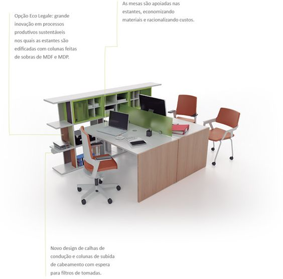 Linha Legale - ambiente gerência e staff | Bortolini