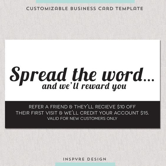 Salon Referral Business Card Template Make It Yours