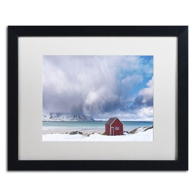 Trademark Art 'Beach Mood' by Michael Blanchette Framed Photographic Print Size: 1