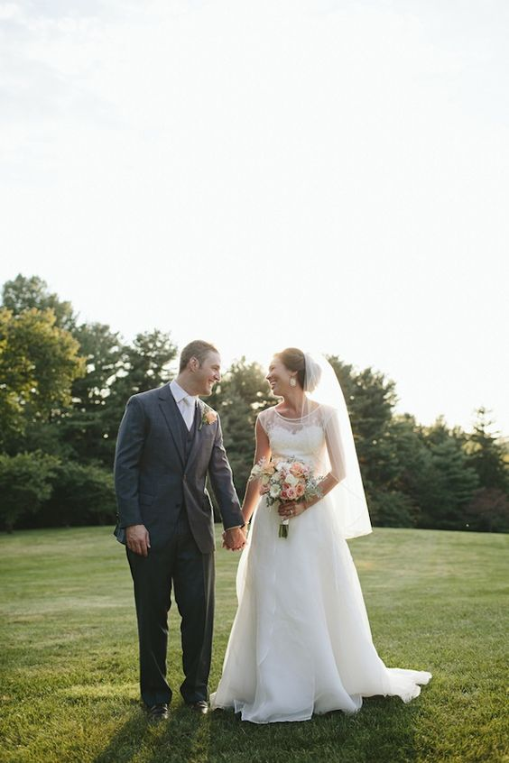 Romantic Blush Pink, Peach And Gold Wedding / Brooke Courtney Photography