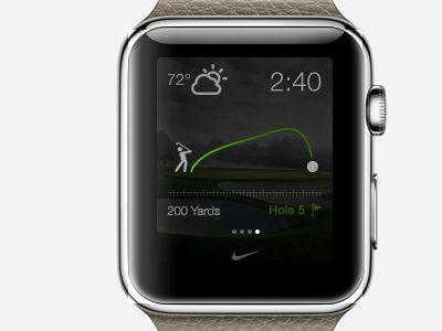 Nike Golf Tracking App for Apple Watch from http//bit.ly