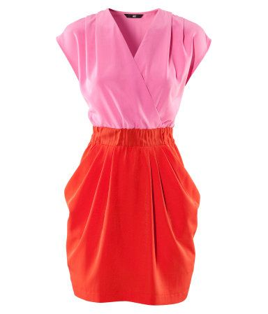 H pink and red dress color block! like this too i guess its the navy and white dress different colors though!