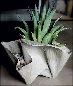 fabric formed concrete planter