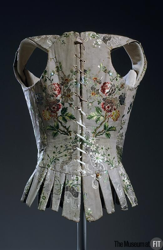 Back-  Medium: Multi colored silk brocade    c.1750; France