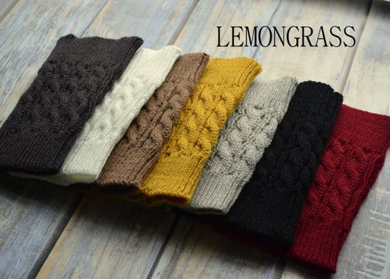 SALE Women's Knitted Boot Cuffs Knitted by LemonGrassShoppe