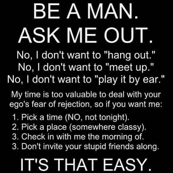 It's so simple what girls want lol