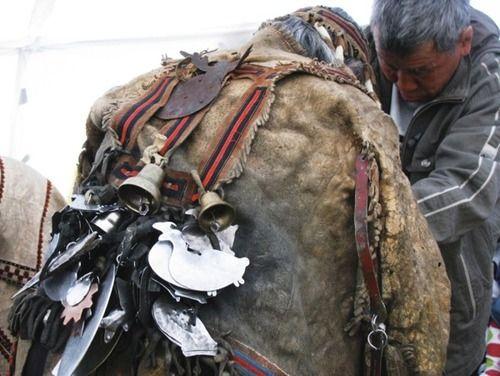 Photo of the Evenk shaman Semyon Vasilyev (2009)