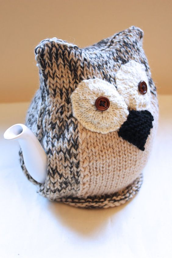 Knitted Owl Tea Cosy Pattern : Pinterest   The world s catalog of ideas