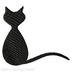 Cat Silhouettes, 7 Designs - 4x4 | Tags | Machine Embroidery Designs | SWAKembroidery.com Mimi's Sewing Studio