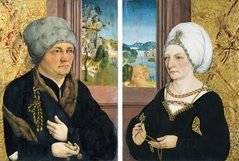 WOLFGANG MASTER WB (WOLFGANG BEURER)  Portraits of a Man and a Woman  ca. 1480-1500