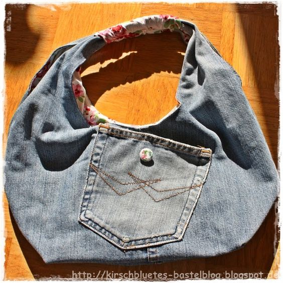 tasche aus alter jeanshose bag made from old pair of. Black Bedroom Furniture Sets. Home Design Ideas