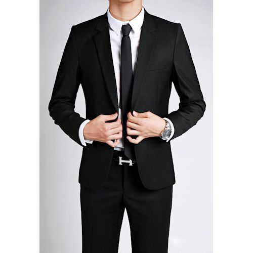 Black suits remain the most classic of styles. A more modern look