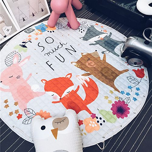 Cars Fox Toys Storage Bag Kids Game Mats Diameter 1 5m Baby Crawling Multifunctional Round Blanket Play Rug Mat Toy Storage Bags Baby Toy Storage Toy Storage