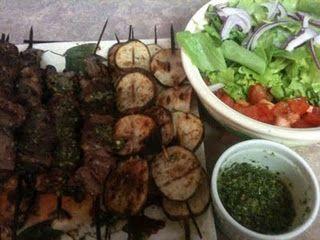 Grilled Steak and potato kebobs!