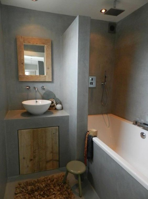 Bathroom landstyle a very earthy look nice idee n for Nice small bathrooms